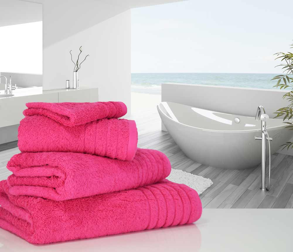 Hot Pink Towels Bathroom: Luxurious LinenHall, 650gsm Hand Towel In Hot Pink
