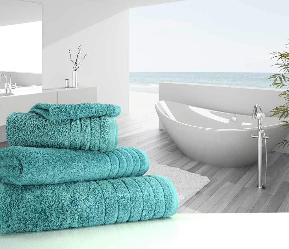 Luxurious Linenhall 650gsm Bath Towel In Teal